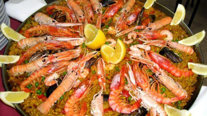 Paella di pesce light