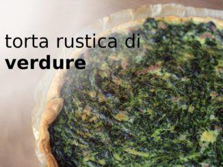 Torta rustica con base di avena e verdure